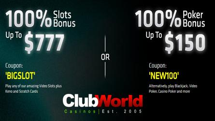 Club World Casino Promotion